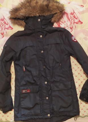 Женская куртка парка с мехом аляска