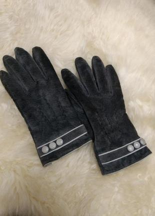 Замшевые утеплённые перчатки promod