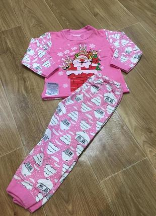 Детская пижама для девочки, новогодняя пижама