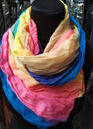 Небольшой легкий шарф жатка в наличии