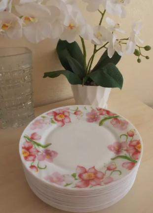 Тарелки (салатники) из стеклокерамики Орхидея