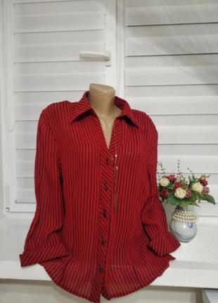 Блуза красная в полоску