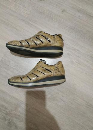 Кожаные кроссовки туфли кожа питона рептилия