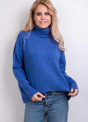 Женский свитер с удлиненной спинкой