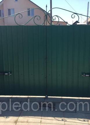 Монтаж откатных ворот , шлагбаумов