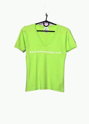 Яркая салатовая футболка 100 % коттон