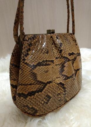 Винтажная сумка радикуль кожа питона