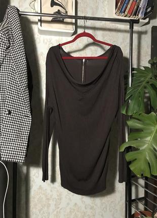 Кофта туника коричневая / теплое платье 🔥разгружаю шкаф🔥