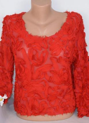 Брендовая красная блуза топ oh my love london англия вискоза у...