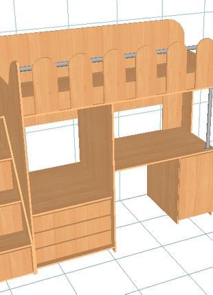 Создание 3D моделей мебели. Создание карт расскроя.