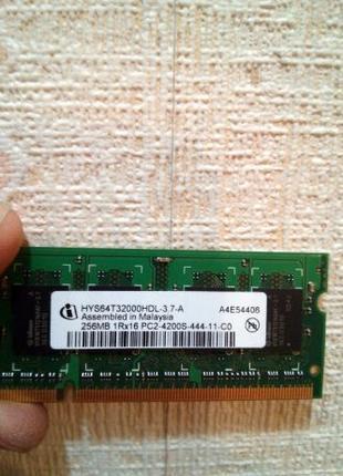 Модуль памяти для ноутбука SODIMM 256MB