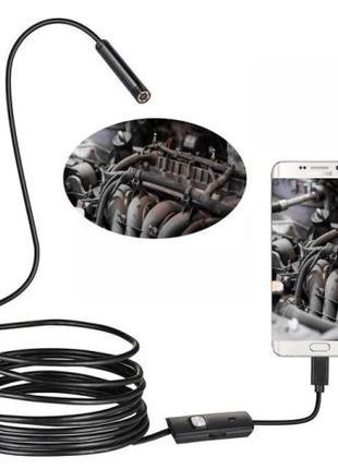 Водонепроницаемый USB Эндоскоп HD 7mm / 1Метр Android/PC