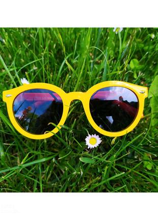 Круглые детские солнцезащитные очки с поляризацией, мягкие дужки