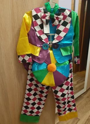 Костюм клоуна новогодний клоун