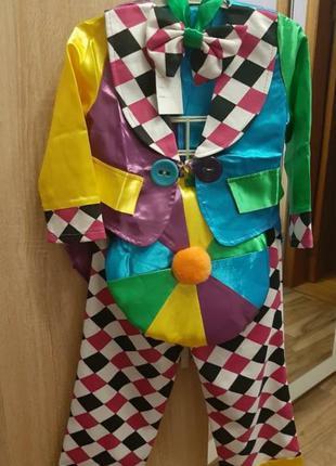 Клоун новогодний костюм клоуна