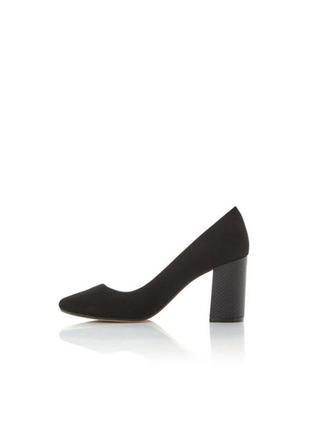 Dune london замшевые туфли на толстом среднем каблуке замш каб...