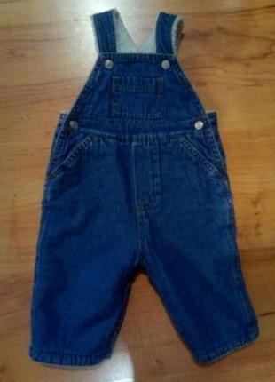 Утеплённые штаны джинсовый комбенизон теплый