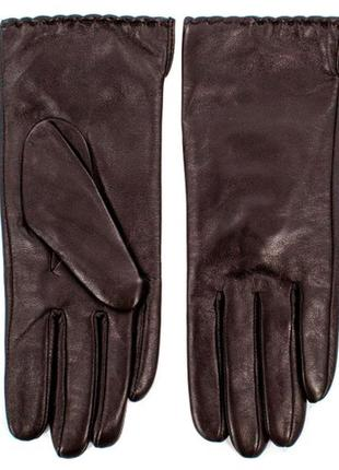 Перчатки из мягчайшей кожи  коричневый