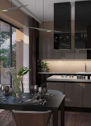 Создание дизайн-проектов интерьеров квартир, домов и отдельных...
