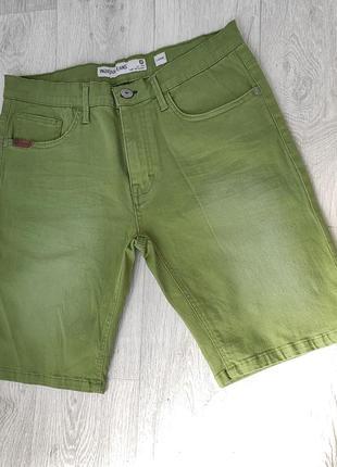 Брендовые джинсовые зелёные шорты для мужчин indicode jeans