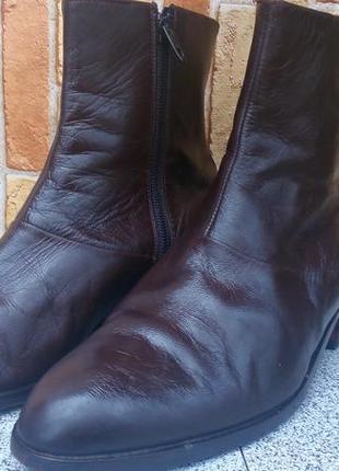Полусапожки натуральная кожа genuine leather