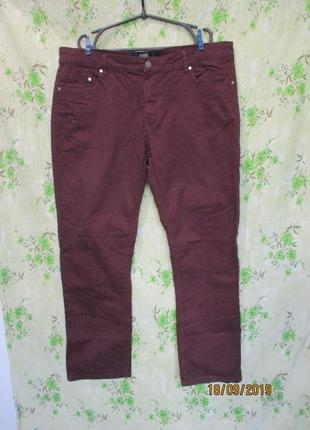 Стильные бордовые брюки/большой размер/батал