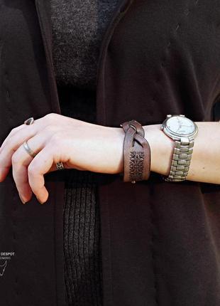 """Кожаный браслет m """"braids"""""""