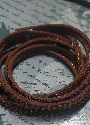 Кожаный браслет-ремешок