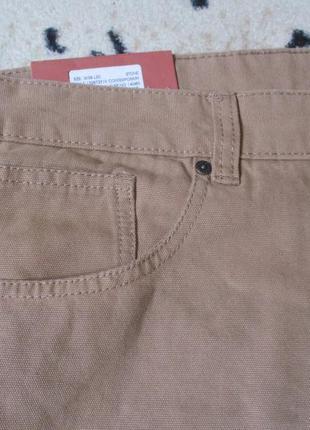 Красивые плотные котоновые штаны w38 l30