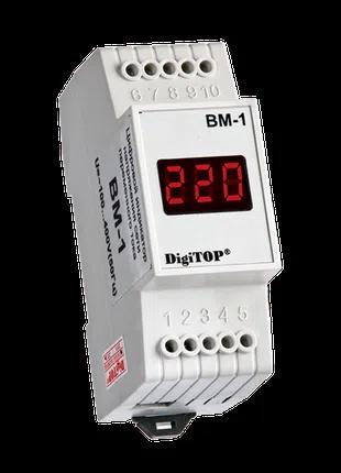 Вольтметр DigiTOP ВМ-1 однофазный (на DIN-рейку)