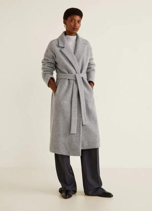 Пальто халат mango р. s с шерстью, оригинал