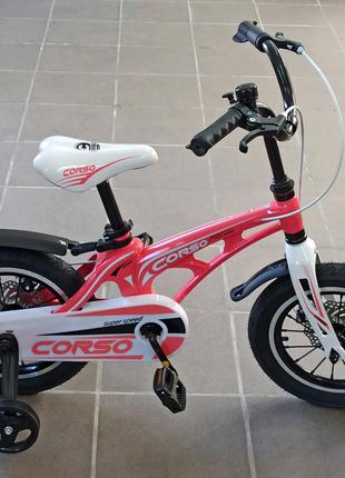 Велосипед дитячий CORSO, колеса 14 дюймів