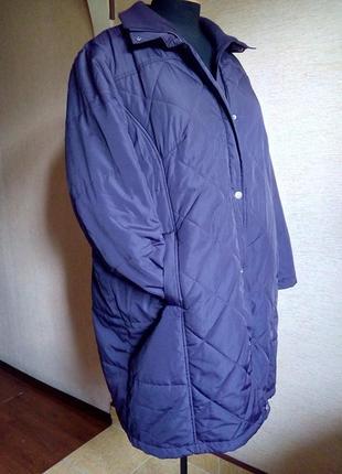 Стеганое зимнее укороченное пальто или удлиненная куртка на 62...