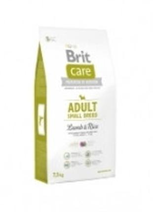 Brit Care Adult Small Breed Lamb and Rice корм для собак мелки...