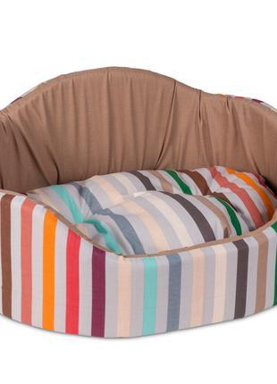 Лежак для кошек и собак Коралл 1 бежевый ТМ Природа 46х36х24см