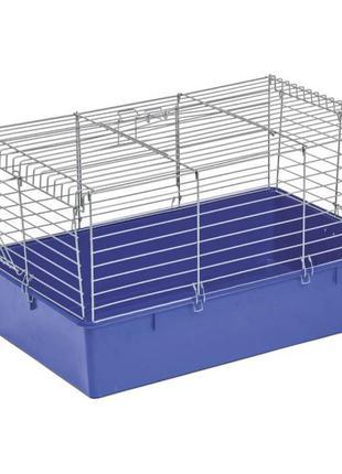 Клетка Кролик 70 для грызунов хром-синяя ТМ Природа 70х45х40см