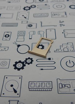 Держатель сим карты Apple iPhone 6 золотой Сервисный оригинал ...