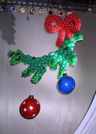 Новогодний и Рождественский декор воздушными шарами.