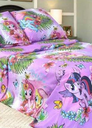 Постельное белье для девочек  Пони. Полуторный размер