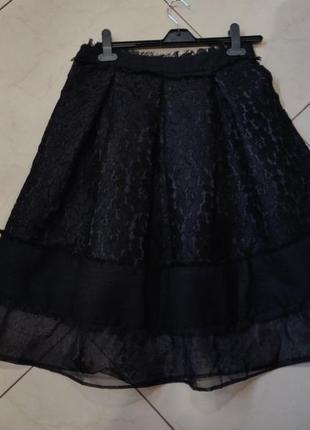 Ликвидация товара 🔥 черная кружевная миди юбка