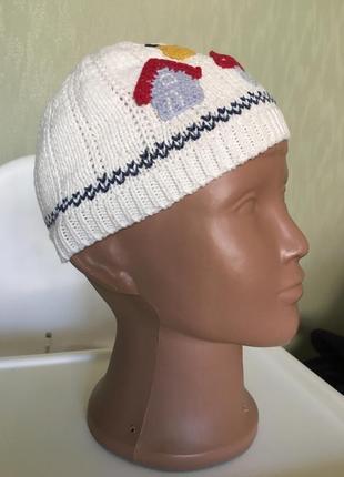 Х/б шапочка на хлопковой подкладке next на 3-6 месяца