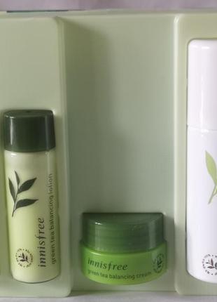 Набор с экстрактом зеленого чая innisfree green tea healing ki...