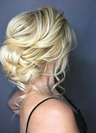 Легкая прическа на любую длину волос