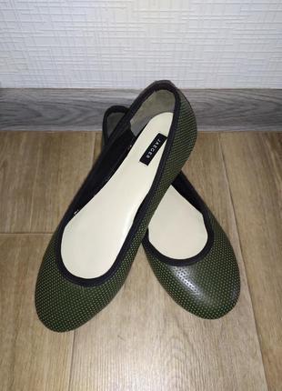 Кожаные балетки туфли jaeger