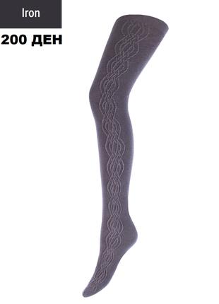 Колготки теплі бавовняні з узором колготы теплые хлопковые р. 4