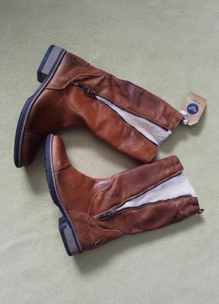 Сапоги кожаные ретро roxy чоботи шкіряні италия