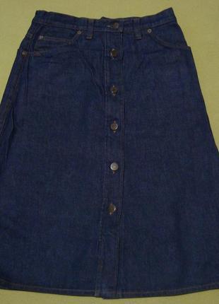 Джинсовая юбка на пуговицах джинсова спідниця на гудзиках + бл...