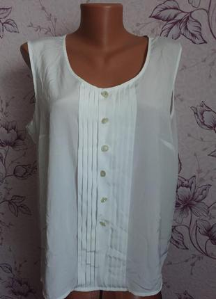 Майка белая широкая блуза
