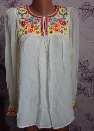 Блуза с вышивкой + подарок