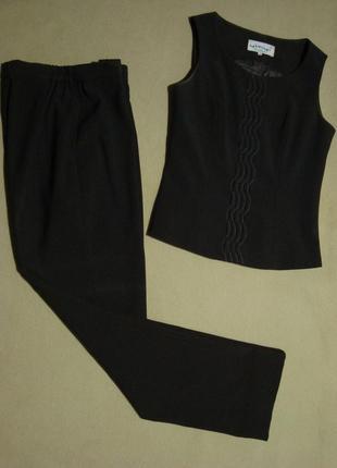 Костюм брючный тройка брюки + пиджак + жилет жилетка